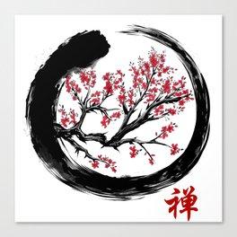 Japanese ENSO ZEN Buddhist SHIRT Canvas Print