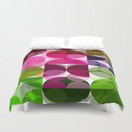 Rosas Moradas 1 Abstract Circles 3 Duvet Cover