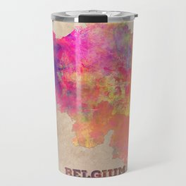 Belgium map Travel Mug