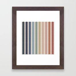 Maude Pattern- Vintage Multicolor Framed Art Print