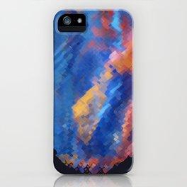 Once Upon a Voronoi Landscape iPhone Case