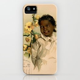 African Girl Maud Humphrey iPhone Case