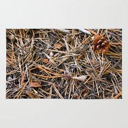 pine needles in yosemite Rug