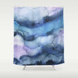 Amethyst abstract watercolor Shower Curtain