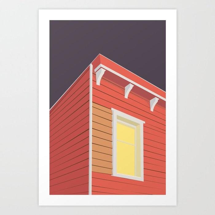 RØDE HUS Art Print