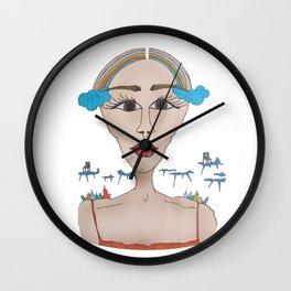 Rainbow Head Wall Clock