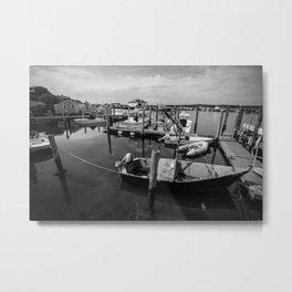 Boats of Menemsha Metal Print