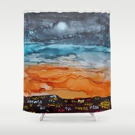 Sunrise in the City Shower Curtain