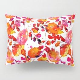 Vintage watercolor autumn leaves Pillow Sham