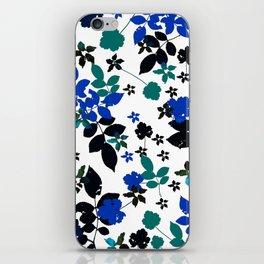 cobalt leaves iPhone Skin