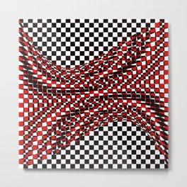 black white red Metal Print