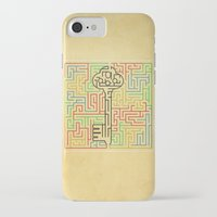 maze runner iPhone & iPod Cases featuring maze by gazonula