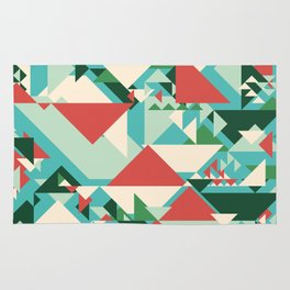 Abstract geometric background. Modern overlapping large and small triangles. Rug