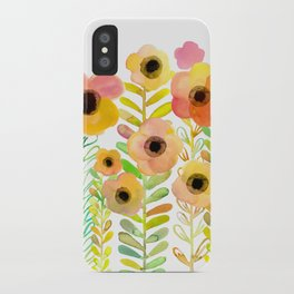 Peony field iPhone Case
