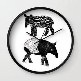 Malayan Tapir & Baby Wall Clock
