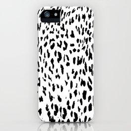 Cheetah II Black & White Animal Print iPhone Case