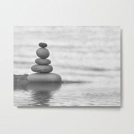 Seaside Harmony Zen Pebble Metal Print