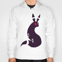 umbreon Hoodies featuring Umbreon-like cat rabbit by Criminal Crow