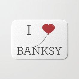 I heart Banksy Bath Mat