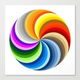 Ubuntu 36 Swirl Canvas Print