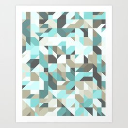 Staccato Turquoise Art Print