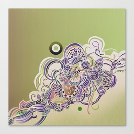 Detailed diagonal tangle Canvas Print