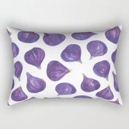 Watercolor figs pattern Rectangular Pillow