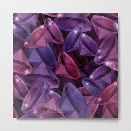 Gems . Alexandrite and Rubies . Metal Print