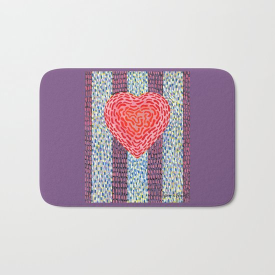 High Energy Squiggle Heart Bath Mat