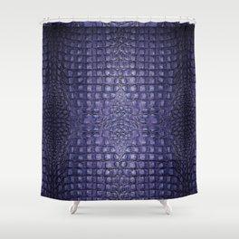 Alligator ...purple Shower Curtain
