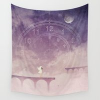 portal Wall Tapestries featuring Time Portal by Annisa Tiara Utami