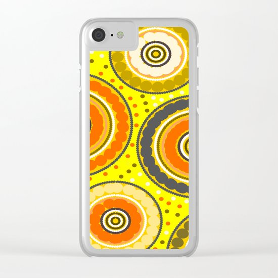 Beads and circles- aboriginal pattern Clear iPhone Case