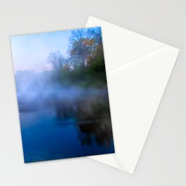 Fall Morning On The Flint River - Georgia Landscape Stationery Cards