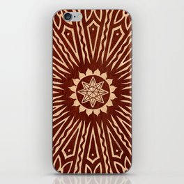 ozorahmi wood mandala iPhone Skin