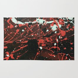 Red Chaos Rug