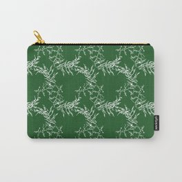 Green Seaweed Pattern Carry-All Pouch