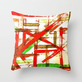 Color Straight Throw Pillow