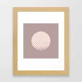 Textured Moon Framed Art Print