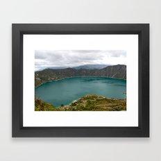 Crater Lake, Ecuador Framed Art Print