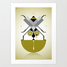 Fly on lime Art Print