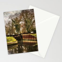 Sulhamstead Lock on the Kennet and Avon Stationery Cards