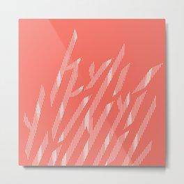 Leaves coral Metal Print