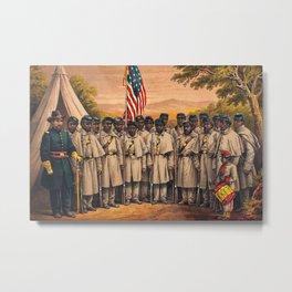 1863 Philadelphia, Pennsylvania African American Civil War Requirement Broadside Advertisement Poste Metal Print