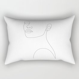 Girly Portrait Rectangular Pillow