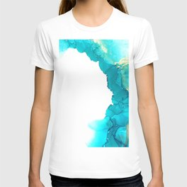 Clouds of blue and gold T-shirt