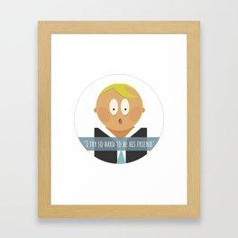 Orange man Framed Art Print