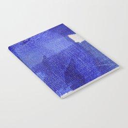 Blue abstract linen Notebook