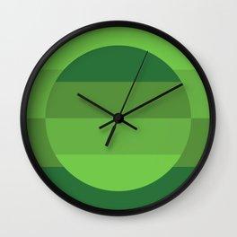 Hardedge abstract geometric art (Green) Wall Clock