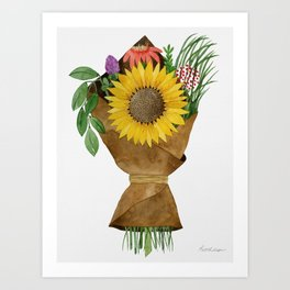 Market Flowers Art Print