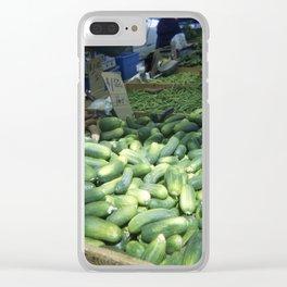 Cucumbers Clear iPhone Case